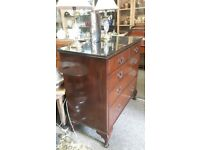 Large Late Victorian Five Drawer Chest Mahogany