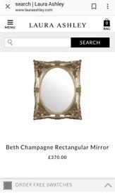 Laura Ashley Gold Beth Mirror