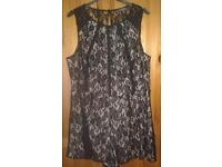 SIZE 18 BY ATMOSPHERE BLACK LACE PLAYSUIT