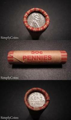 50  1943 Pds Lincoln Wheat Steel Penny Roll   Circulated Us Pennies Coin Lot