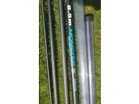 Preston fishing pole, 3 topkits