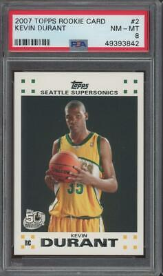 2007 Topps #2 Kevin Durant RC Rookie PSA 8