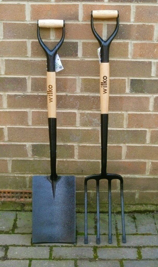 7 Days Ago BRAND NEW Full Size Heavy Duty Garden Spade And Folk RRP £30