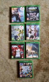 7 x Xbox One games