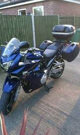 Suzuki Bandit 1250 K8 with full luggage