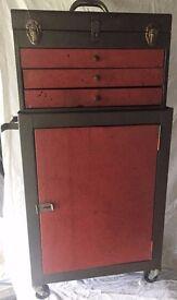 Light duty steel toolbox & cabinet for sale.