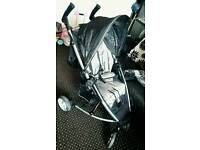 Petite push chair and car seat
