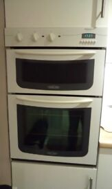 Hotpoint Built in Electric Double Oven and Hotpoint Gas Hob