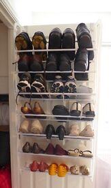 Over-door hanging shoe rack