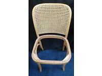 """4 """"Prague"""" Hoffmann Thonet Bentwood chairs plus enough cane for 1-2 seats (?) and tools."""