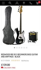 Redwood beginners bass and amp pack