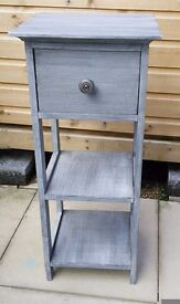 Shabby chic lamp table / storage unit