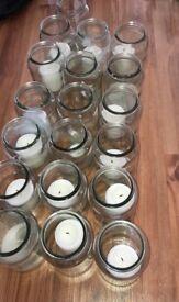 Wedding decoration large candle jars