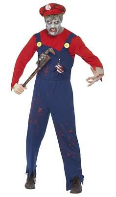 Zombie Halloween Costume Male (ADULT MALE ZOMBIE PLUMBER HALLOWEEN/HORROR/PARTY FANCY DRESS)