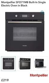 New ex display Montpellier SFO71MB Built-In Single Electric Oven in Black £109 price