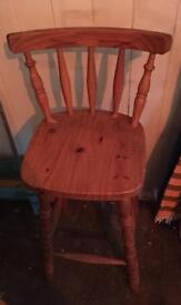Tall wooden bar stool