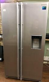 BRAND NEW SAMSUNG AMERICAN FRIDGE FREEZER SILVER WITH WATER DISPENSER ABSOLUTE BARGAIN !!!