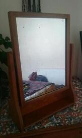 Pine Dressing Table Vanity Mirror