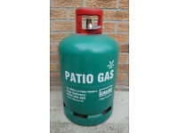 13KG Patio Gas Bottle, Calor gas, Propane, BBQ Gas, Camping Gas, Heating Gas + Free Regulator.