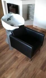 Hairdressing hair basin chairs