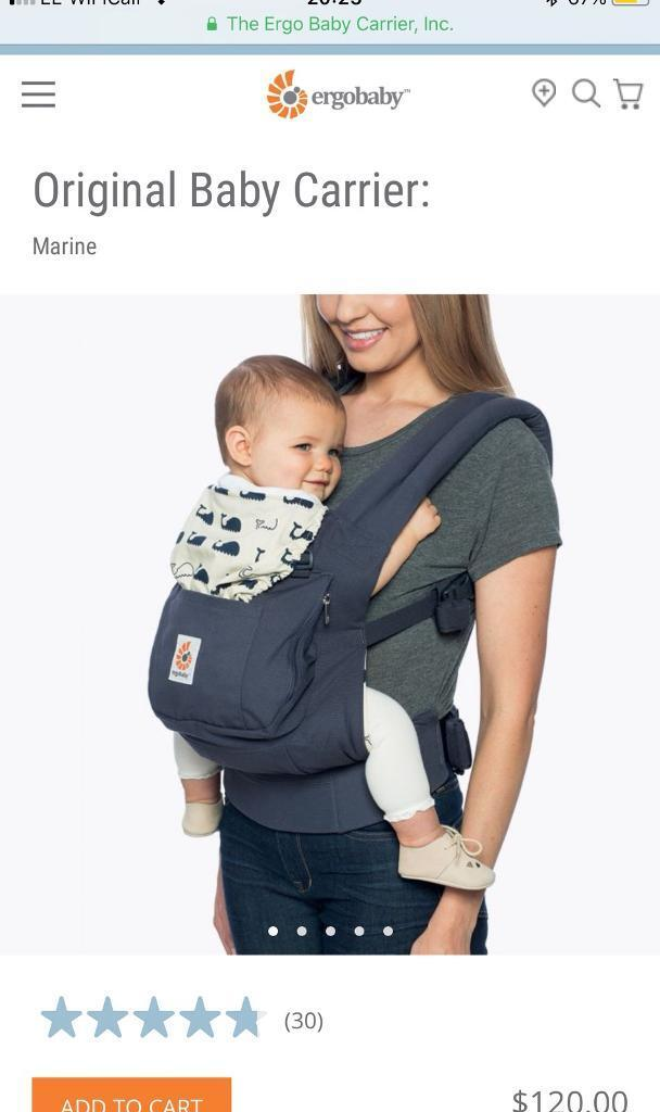 low priced 89a87 5f155 Ergobaby Original Baby Carrier Marine Blue Whales ergo baby