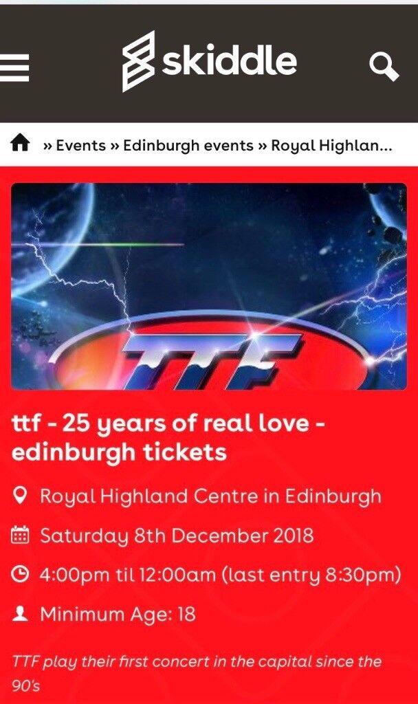 TTF Tickets for Royal Highland Centre, Ingliston on Sat 8th of December |  in Burnside, Glasgow | Gumtree