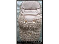 BB,Sale New Handmade Babys Cosytoes 3in1 Footmuff Pram set Blanket