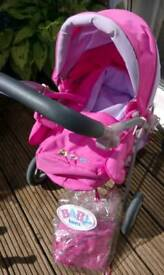 Baby Bjorn Dolls Pram with Carrycot