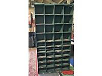 Industrial Metal Bank Of 40 Pigeon Holes - Shelving Unit - Storage - Workshop