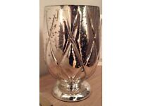Partylite gold/silver shimmer hurricane including tealight tree - ex display excellent condition