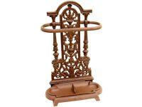 Woodside Ornate Vintage Cast Iron Umbrella/Walking Stick Stand