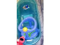 Baby bath and bath chair