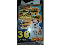 2 Packets of House Training Puppy Pads with Wetness Indicator