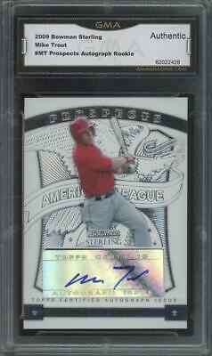 2009 Bowman Sterling Mike Trout Auto RC Rookie GMA Clean Autograph