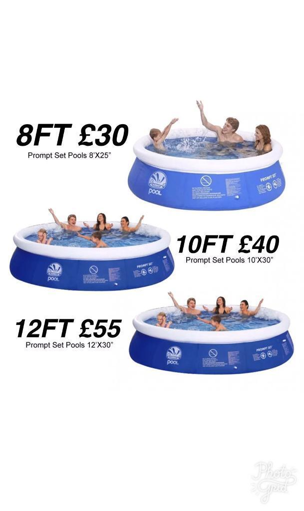 SWIMMING POOLS (BRAND NEW) (8FT / 10FT / 12FT) (CHEAP)
