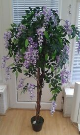 Artificial Wisteria Tree in a Pot