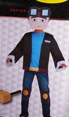 Boys Dan TDM Tube Heroes Gaming U Tube Halloween Purim Costume Small 6 Med 8 NEW
