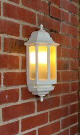 White Half Lantern External light