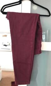 Forever 21 MAROON COLOURED JEANS.