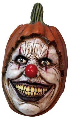 Carving Pumpkin Creepy Clown Face Adult Overhead Latex Mask Horror Halloween](Carve Pumpkin Face Halloween)