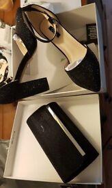 Matching black shoes & bag (size 6)