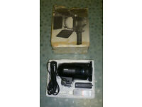 Vintage Wotan Video 1000w ProFi - Hand-held photography/video light, barn-doors, continuous blower