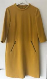 Women's mustard yellow M&S dress size 10
