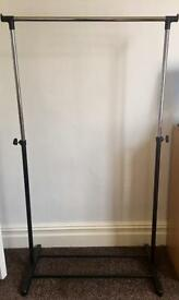 2 clothing racks