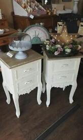 Pair of Painted French Style Bedside chests