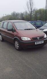 Vauxhall Zafira 2002 7 seats