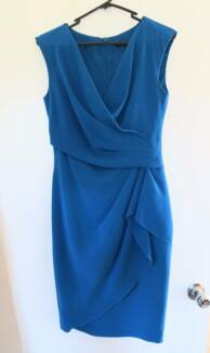 Blue fitted coast dress, size 8