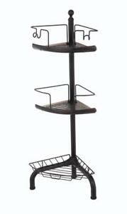 New HomeZone 3 Tier Adjustable Corner Shower Caddy, Oil-Rubbed Bronze Finish PI1
