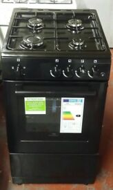 Newworld 50 cm wide gas cooker in black colour unused graded new