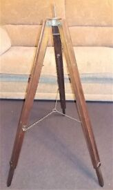 Antique wood tripod , really nice make good lamp project